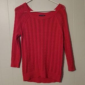 American Eagle Pink 3/4 sleeve, scoop neck Sweater